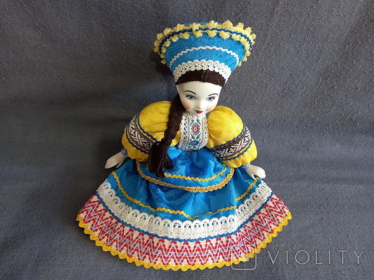 Кукла Барышня в кокошнике Фарфоровая, фото №5