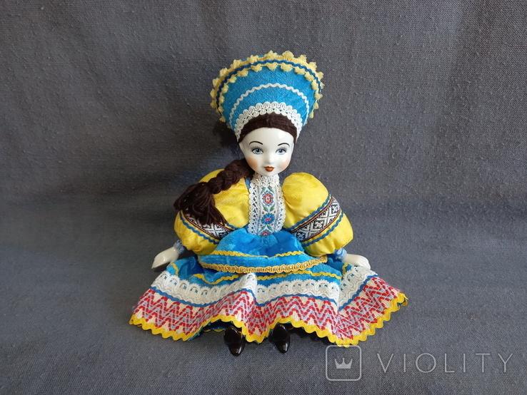 Кукла Барышня в кокошнике Фарфоровая, фото №7