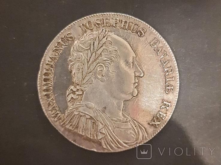1 Талер Бавария ''Конституция'' 1818 год, фото №2