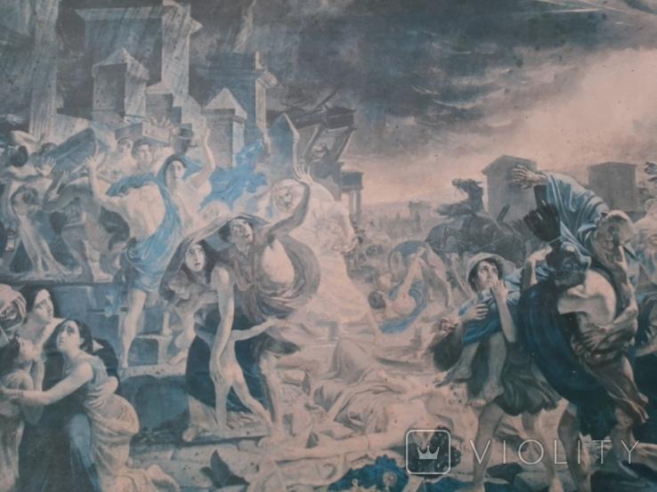 Последний день Помпеи К.П. Брюллов. Репродукция., фото №3