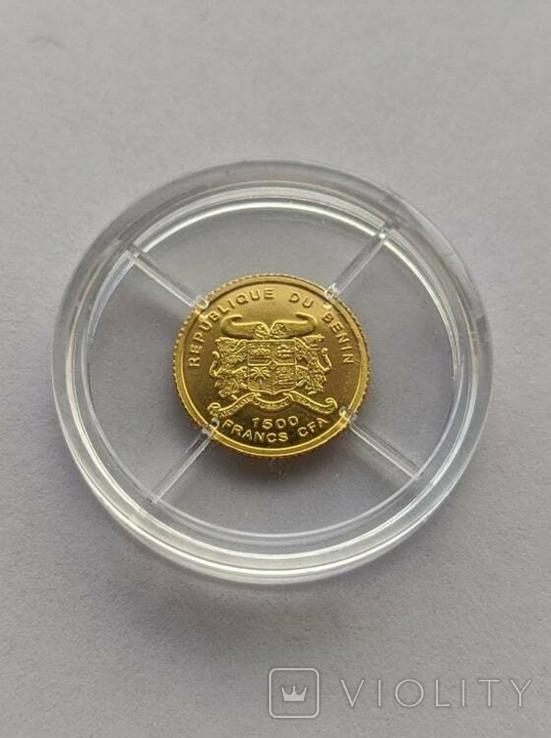 1500 франков 2006 год Бенин золото 1/50 унц. 9999`, фото №3