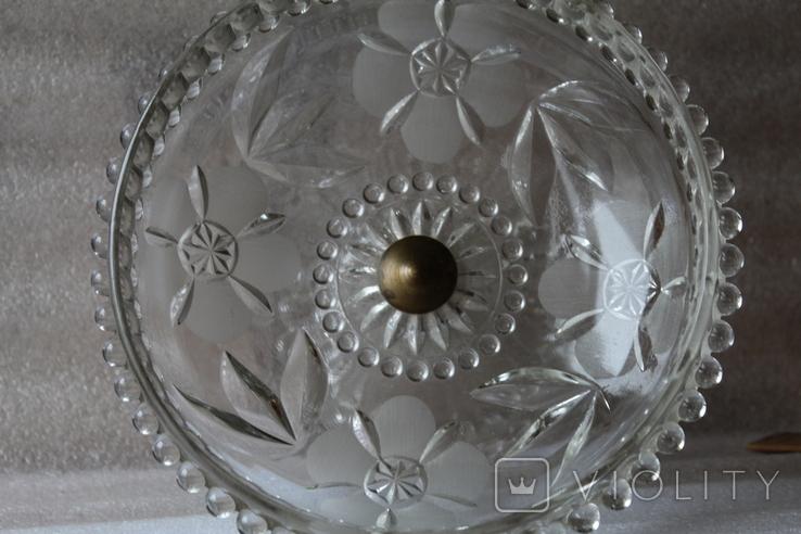 Фруктовница/ Конфетница/ Тяжелое стекло, фото №2