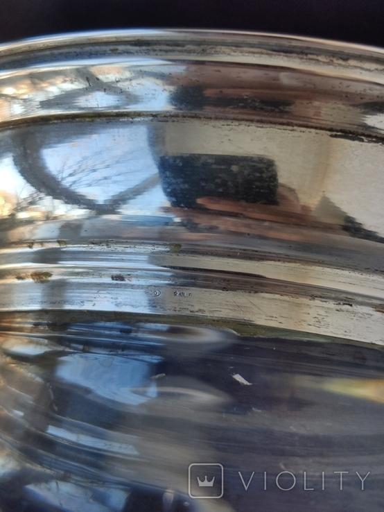 Большая Ваза Хрусталь Серебро 800 пр ( Италия ), фото №9