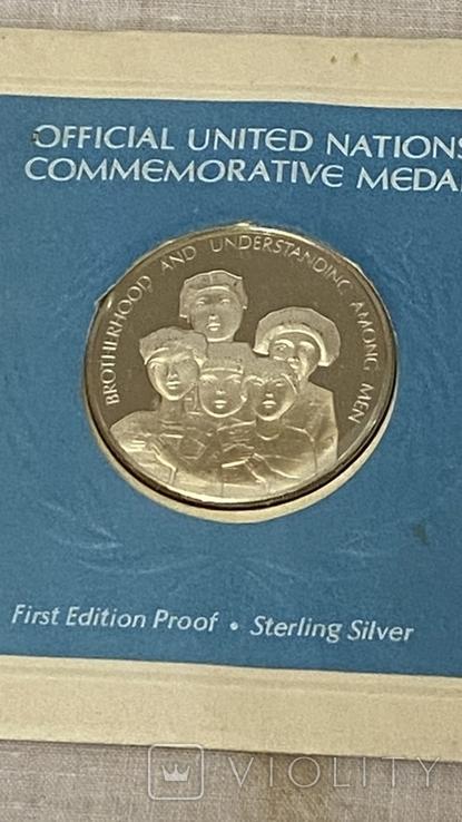 Монета ООН серебро, фото №2