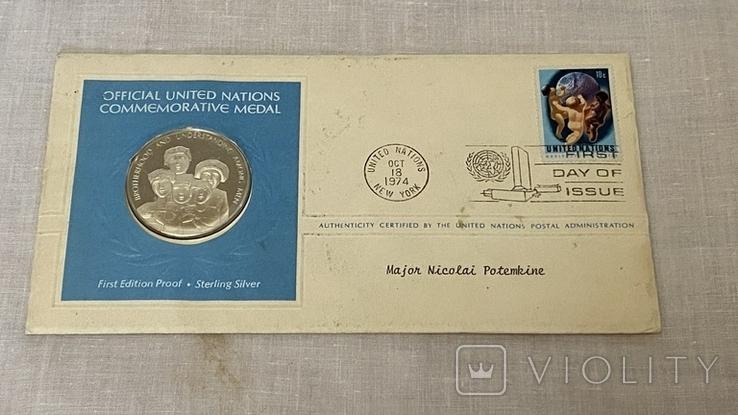 Монета ООН серебро, фото №4