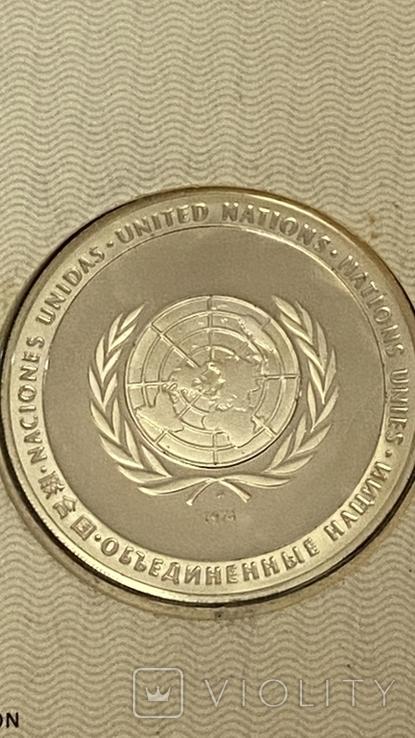 Монета ООН серебро, фото №5