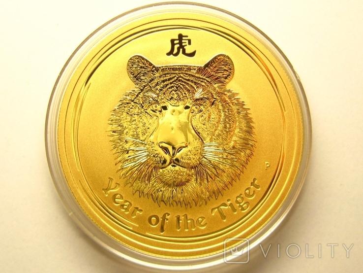 Монета золото лунар год тигра, фото №2