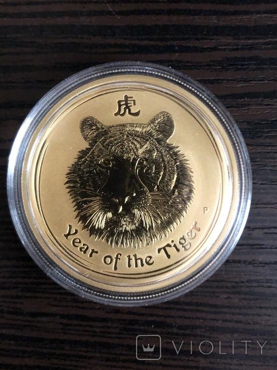 Монета золото лунар год тигра, фото №4