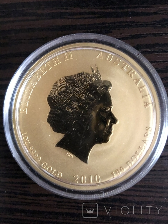 Монета золото лунар год тигра, фото №5