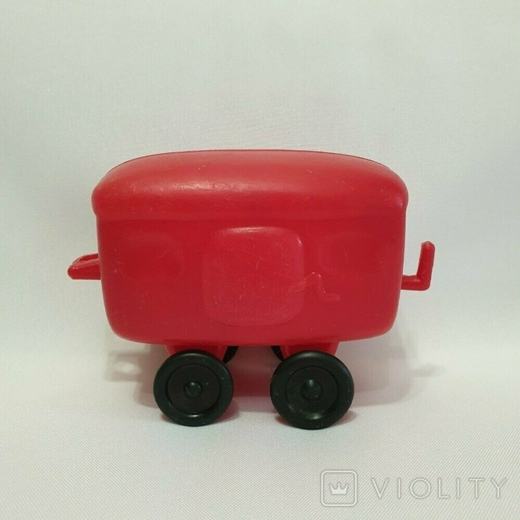 Игрушка Ссср вагон вагончик полиэтилен 14 см., фото №4