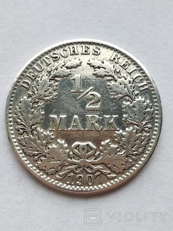1/2 марки 1907 г., фото №2