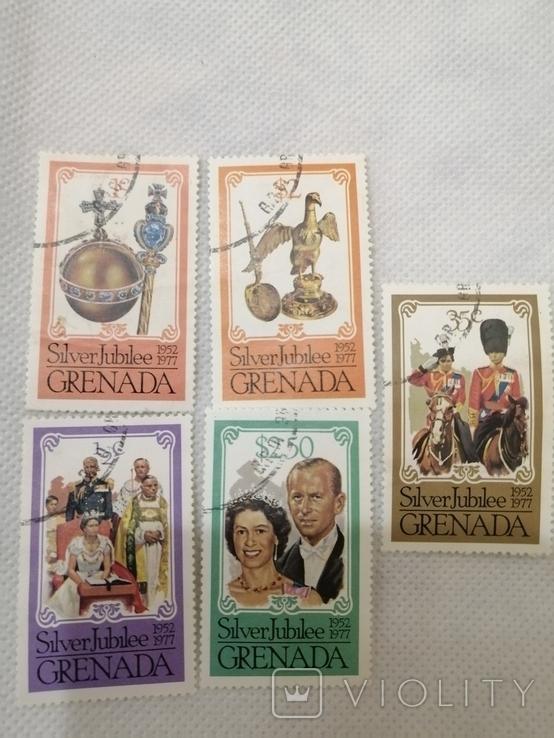 Марки Гренада монархи 5шт, фото №2