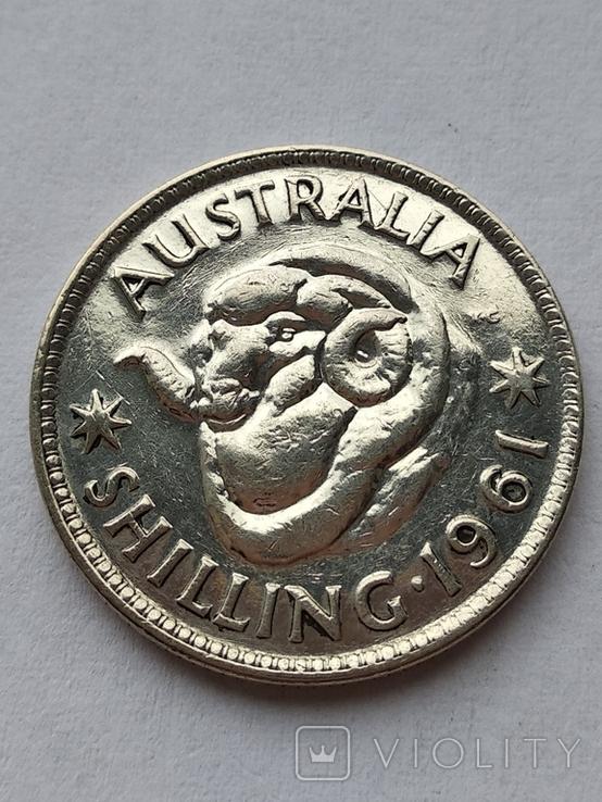 Австралия 1 шилинг 1961, фото №2