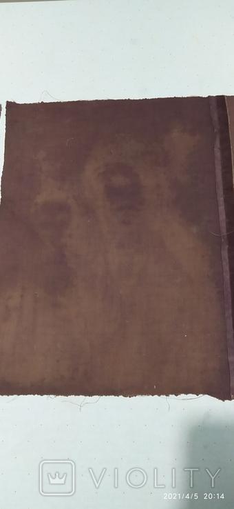 Иконы Богородицы и крещение господне написаны на коже 43/34см, фото №3