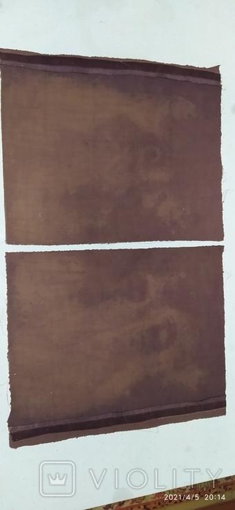 Иконы Богородицы и крещение господне написаны на коже 43/34см, фото №5