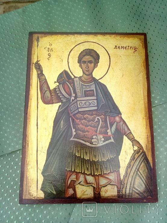 Икона Димитрий Солунский, или Димитрий Фессалоникийский, покровитель военного дела, фото №2
