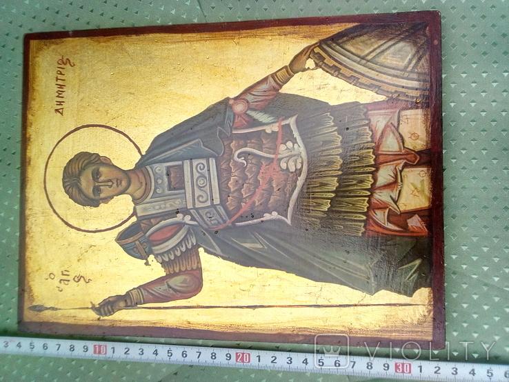 Икона Димитрий Солунский, или Димитрий Фессалоникийский, покровитель военного дела, фото №5