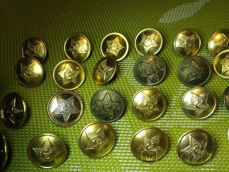 Советские форменные пуговицы, звездочки и петлички, фото №8