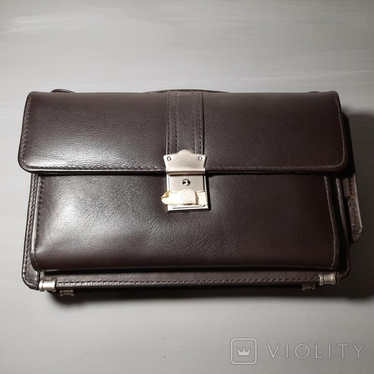 Сумка-барсетка мужская. Zodiac Leather. Кожа., фото №4