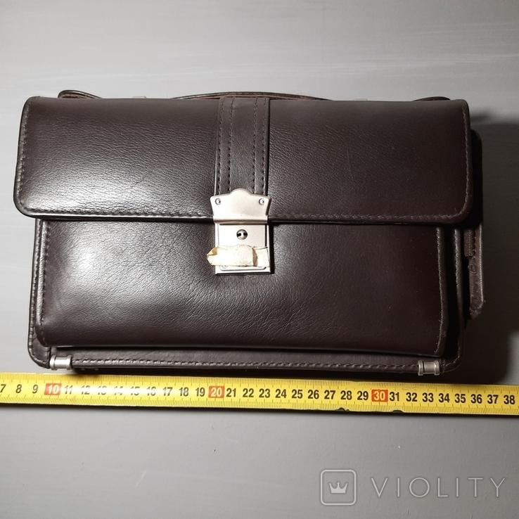 Сумка-барсетка мужская. Zodiac Leather. Кожа., фото №5
