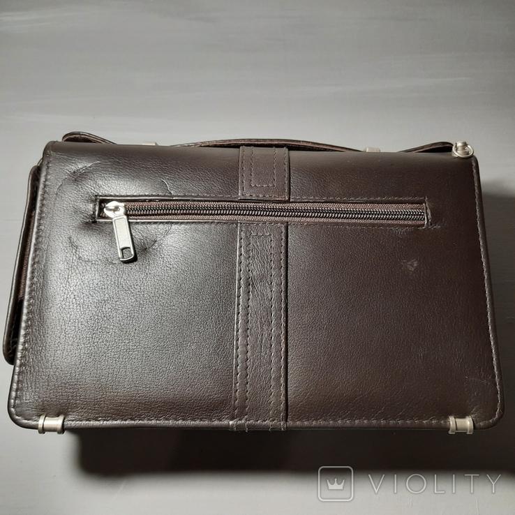 Сумка-барсетка мужская. Zodiac Leather. Кожа., фото №7