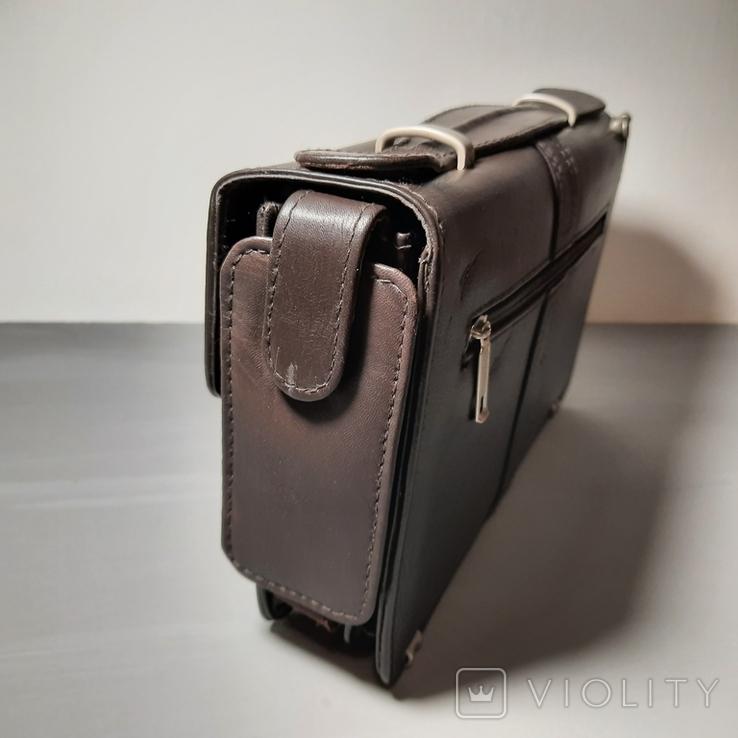 Сумка-барсетка мужская. Zodiac Leather. Кожа., фото №8