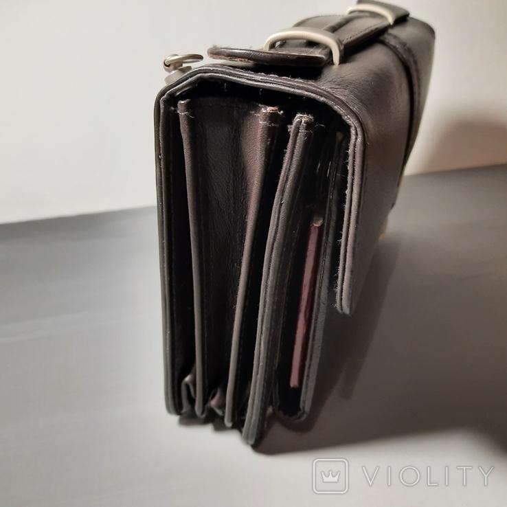 Сумка-барсетка мужская. Zodiac Leather. Кожа., фото №9