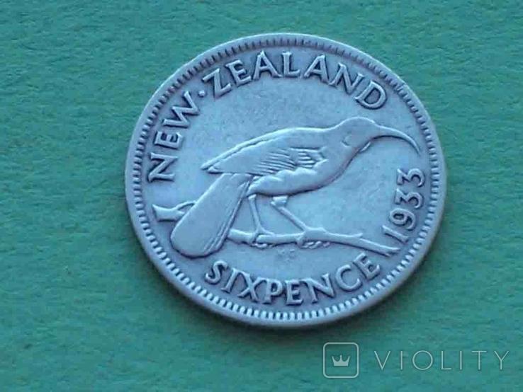 Новая Зеландия 1933 6 пенсов, Георг V, фото №5