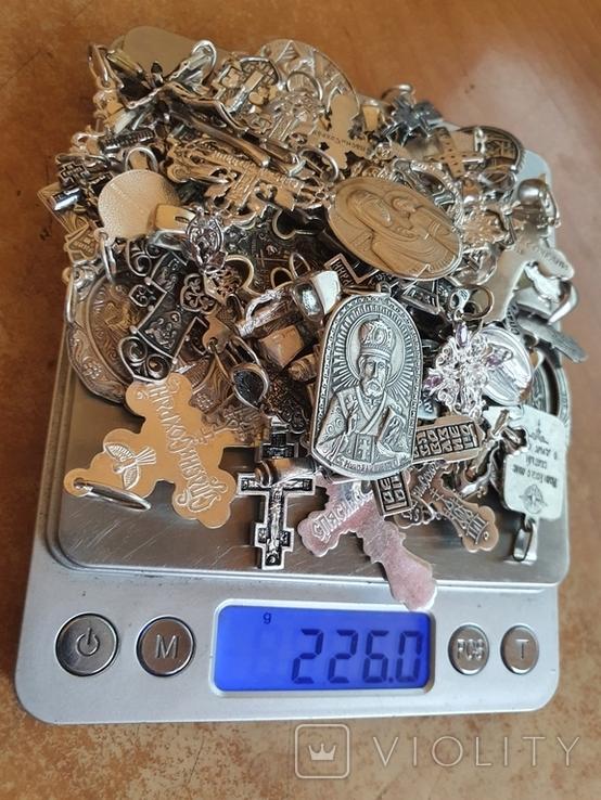 Крестики нательные православные. Большой лот. Серебро 925. Вес 226 г., фото №5