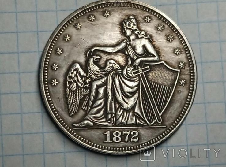 Доллар 1872 копия, фото №2