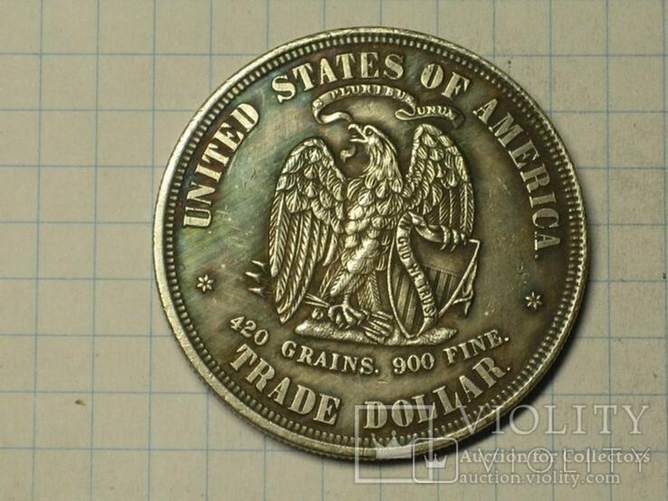 1 доллар 1873 тип 4 копия, фото №3