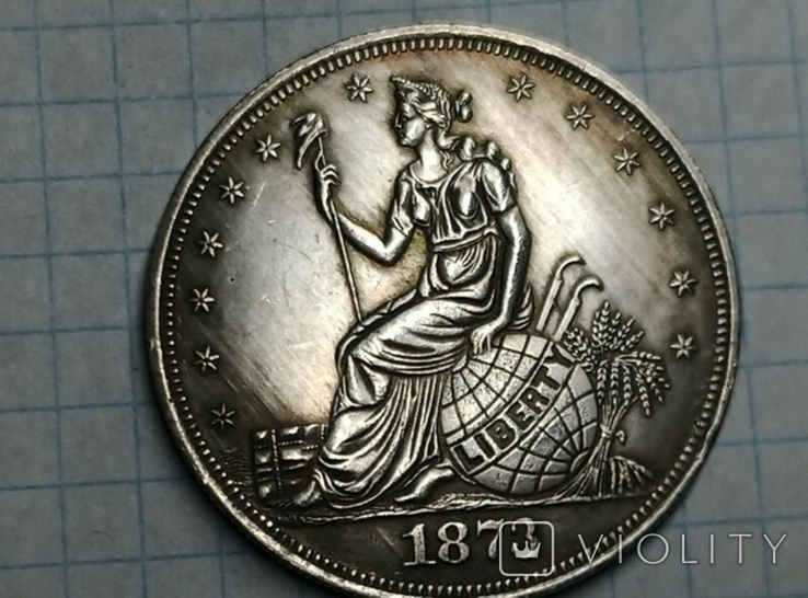 Доллар 1873 тип 2 копия, фото №2