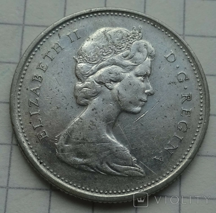 25 центов, Канада, 1968 год., фото №2
