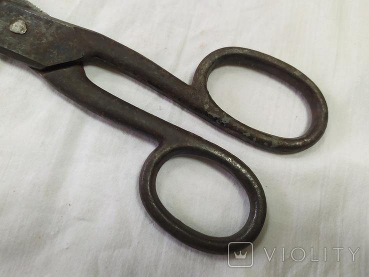 Портновские ножницы. Длина 25см, вес 301гр, фото №4