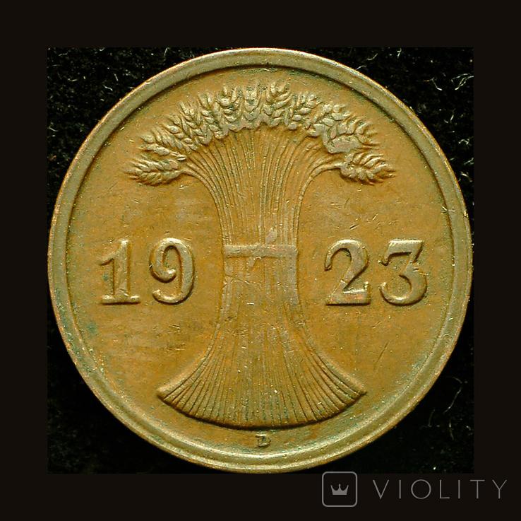 Германия 2 пфеннига 1923, фото №3