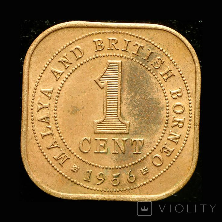 Британская Малайя 1 цент 1956, фото №2