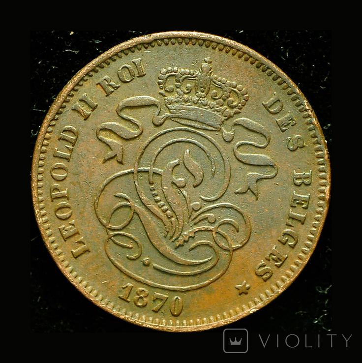 Бельгия 2 сантим 1870, фото №3