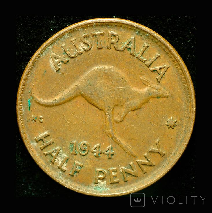 Австралия 1/2 пенни 1944, фото №2