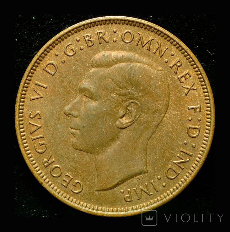 Великобритания пенни 1948, фото №2