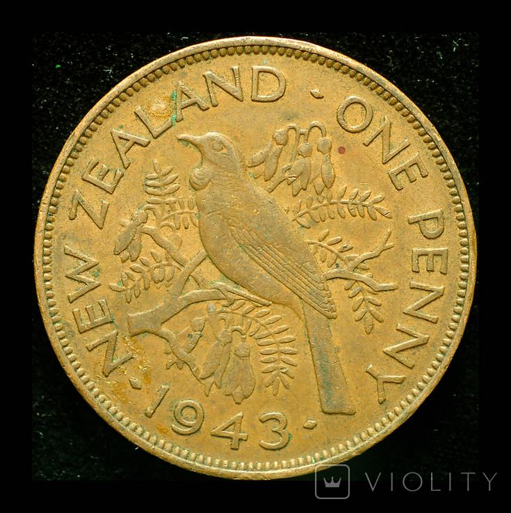 Новая Зеландия пенни 1943, фото №2