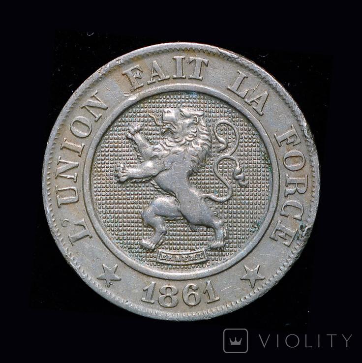 Бельгия 10 сантим 1861, фото №2
