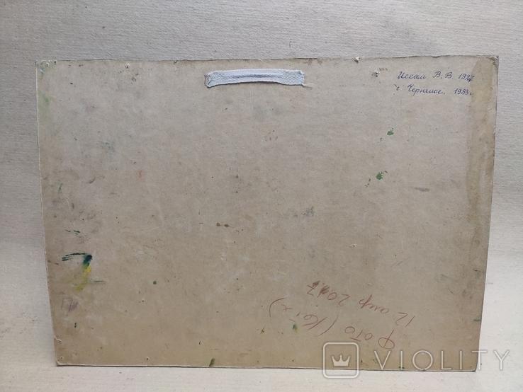 """Искам В. В. 1927-2010г. """" Село Черняное"""". 1983г. Картон.Масло., фото №7"""