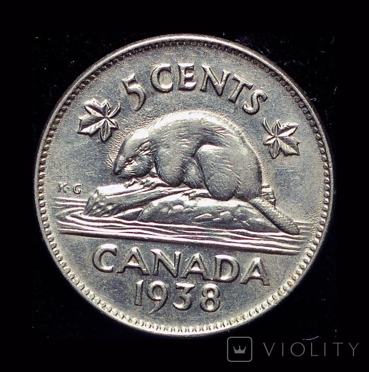 Канада 5 центов 1938, фото №2