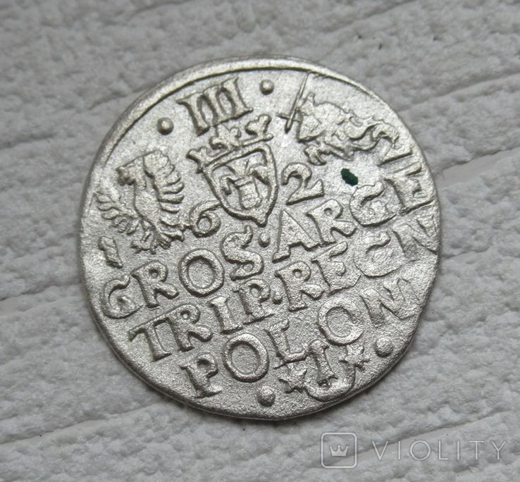 Трояк 1622 г. Сиг. ІІІ Ваза, фото №4
