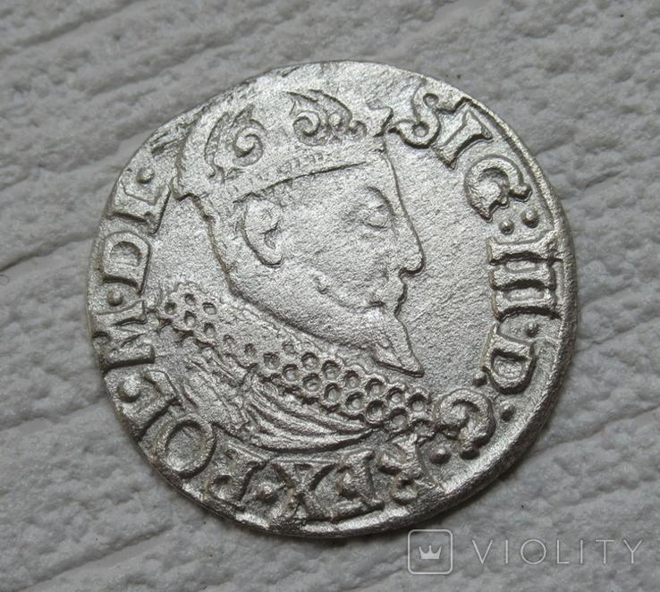 Трояк 1622 г. Сиг. ІІІ Ваза, фото №10