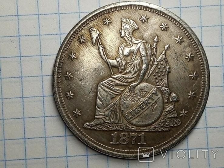Доллар 1871 копия, фото №2