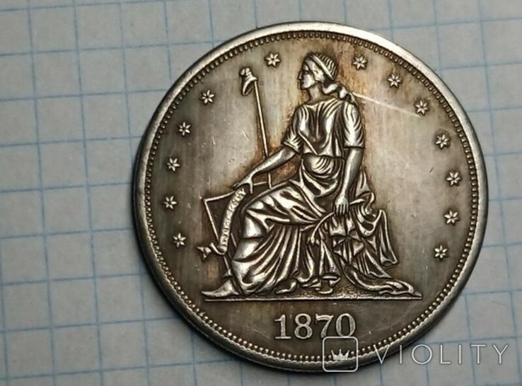 Доллар 1870 копия, фото №3