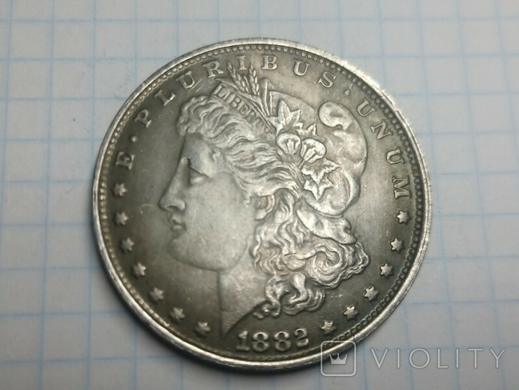 Доллар 1882 копия, фото №2