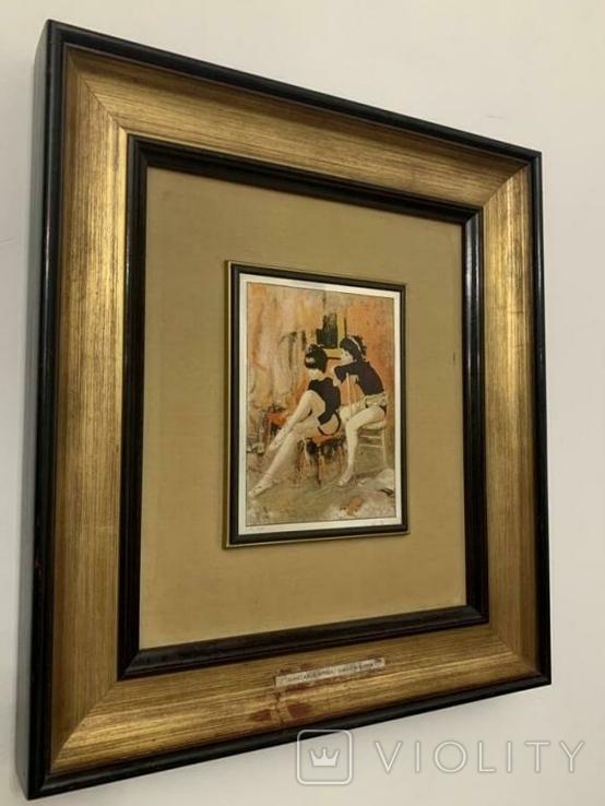 Картина GIANCARLO VITALI 1981 г. документы (Сертификат). Серебро 800 Италия., фото №3