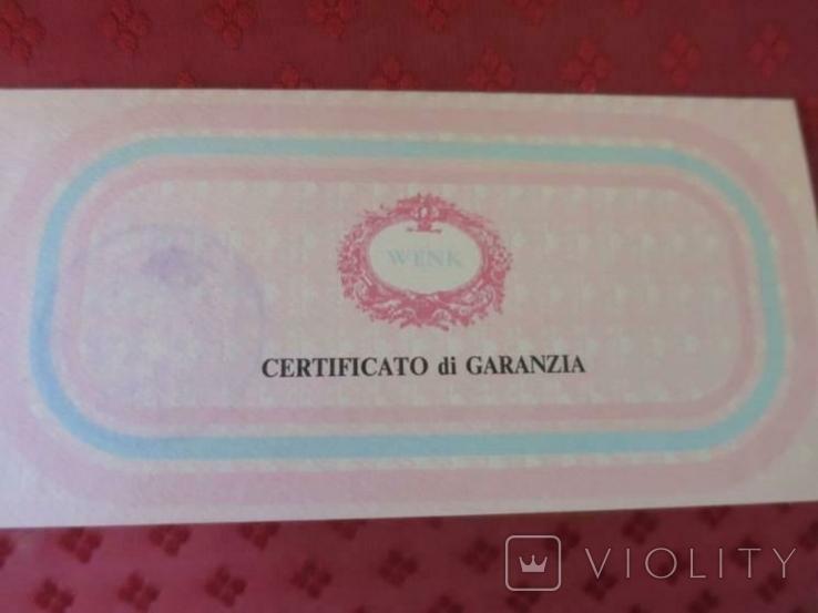 Картина GIANCARLO VITALI 1981 г. документы (Сертификат). Серебро 800 Италия., фото №6